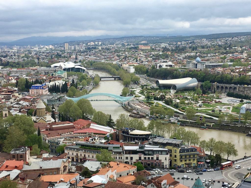 Blick von der Festung in Tiflis - Kartli - quer