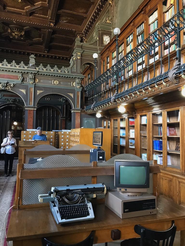 Universitätsbibliothek, Schreibmaschine, alter Computer, Iasi