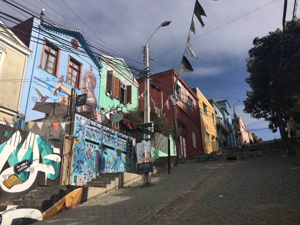 Straße mit Morales, Valparaiso