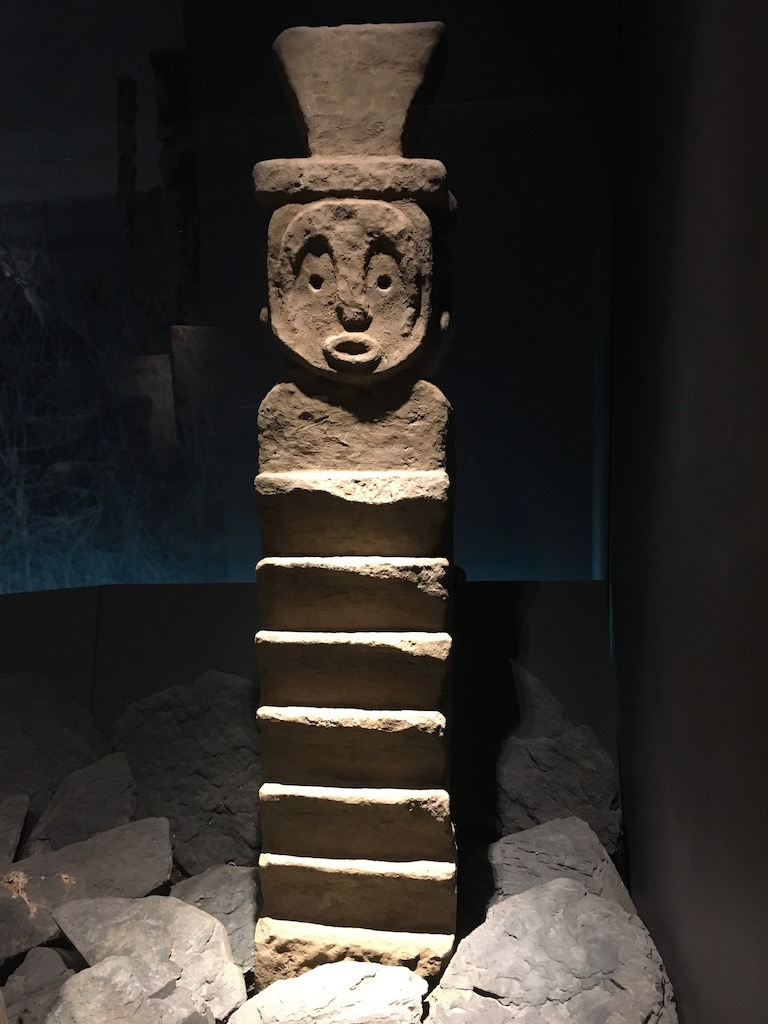 Mapuche Skulptur, Undurraga Weingut, Valle de Maipo
