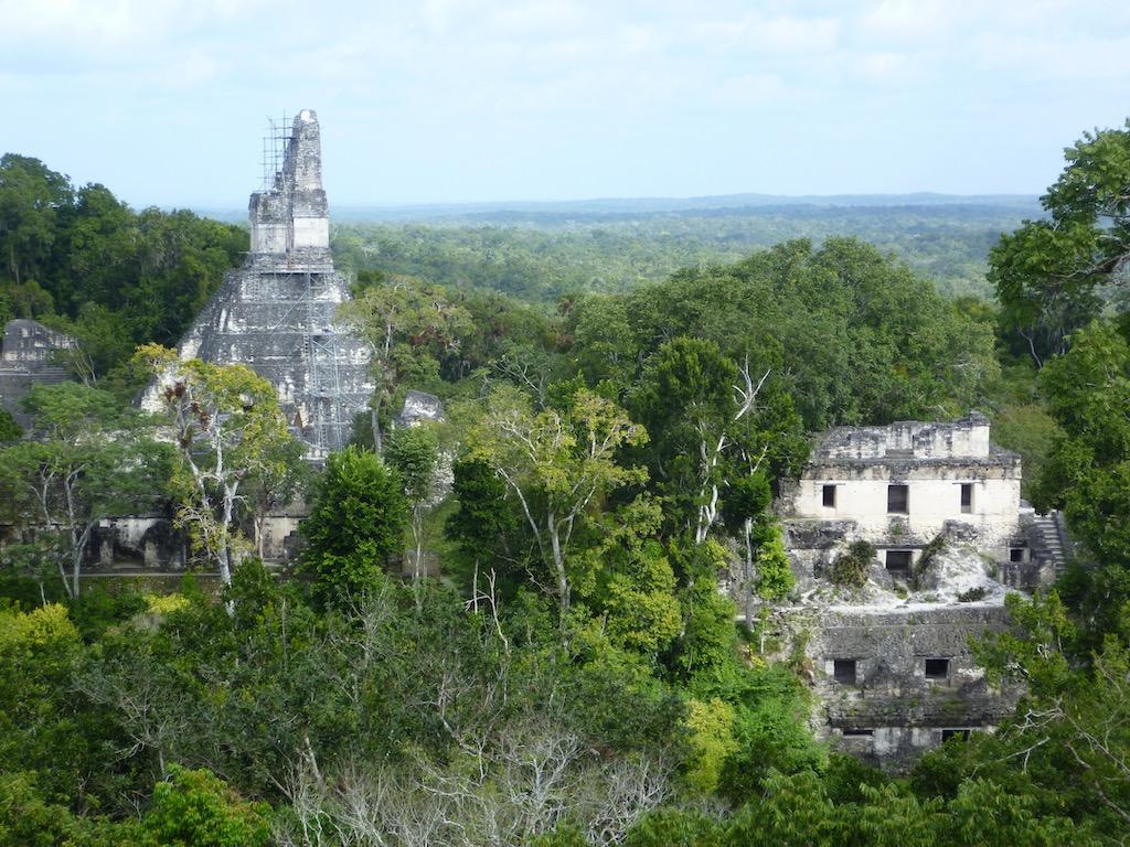 Pyramide und andere Ruine im Dschungel