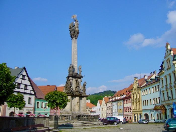Altstadtplatz mit Brunnen, Loket