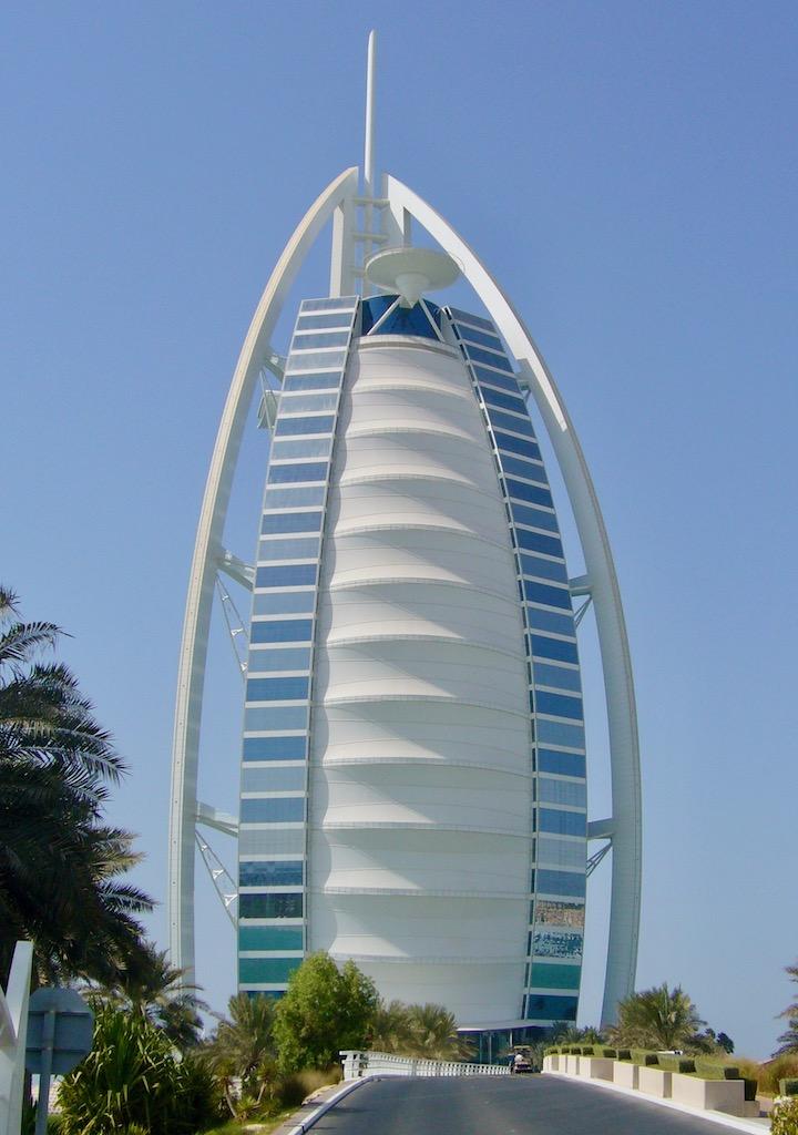 Burj Al Arab Dubai, blauer Himmel