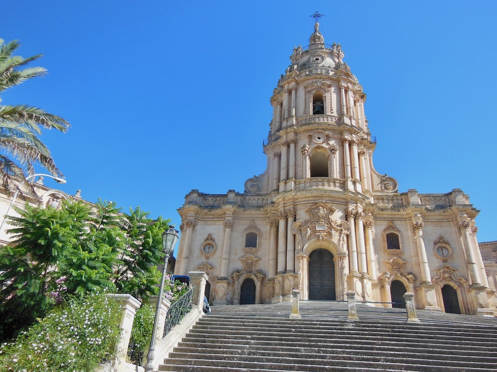 barocke Kirche in Monica, Sizilien